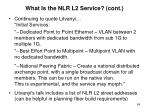 what is the nlr l2 service cont