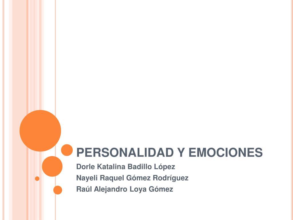 personalidad y emociones l.