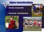 injury classifications