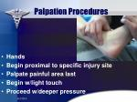 palpation procedures