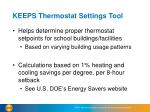 keeps thermostat settings tool