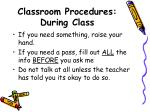 classroom procedures during class