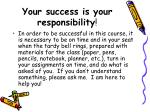 your success is your responsibility