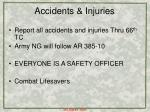 accidents injuries