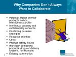 why companies don t always want to collaborate