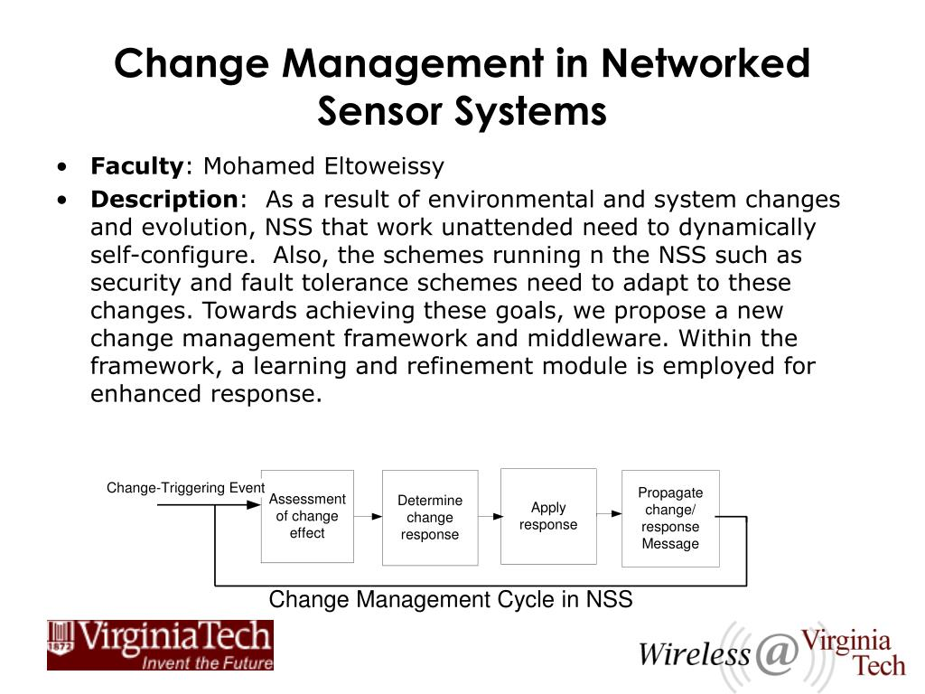 Change Management in Networked Sensor Systems