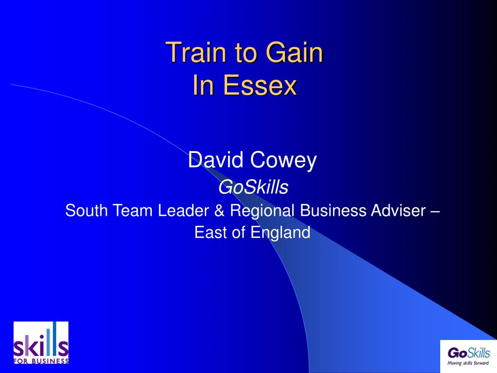 train to gain in essex l.
