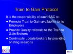 train to gain protocol