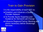 train to gain provision