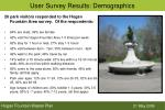 user survey results demographics