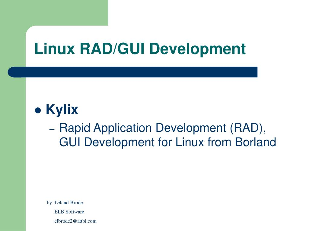 linux rad gui development l.