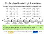 5 3 simple arithmetic logic instructions
