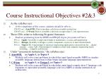 course instructional objectives 2 3