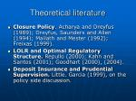 theoretical literature
