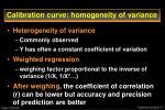 calibration curve homogeneity of variance35