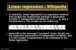 linear regression wikipedia