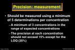 precision measurement