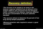 recovery definition