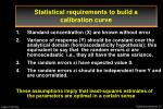 statistical requirements to build a calibration curve24