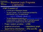 bayesian logic programs a definition
