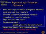 bayesian logic programs summary