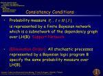 consistency conditions