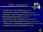 other frameworks