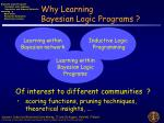 why learning bayesian logic programs