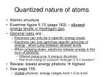 quantized nature of atoms