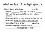 what we learn from light spectra