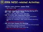 2006 ncdi related activities