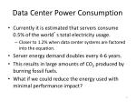 data center power consumption