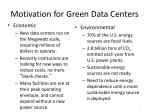 motivation for green data centers