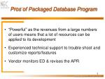 pros of packaged database program5
