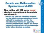 genetic and malformation syndromes and asd