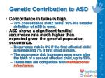 genetic contribution to asd11