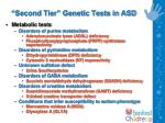 second tier genetic tests in asd
