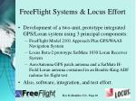 freeflight systems locus effort