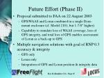 future effort phase ii