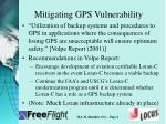 mitigating gps vulnerability