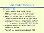 star tracker examples