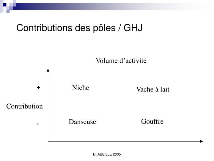 Contributions des pôles / GHJ