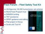 fleet forum fleet safety tool kit