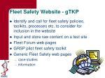 fleet safety website gtkp