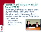 formation of fleet safety project group fspg
