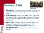 members fspg