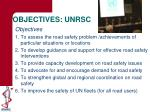 objectives unrsc