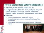 private sector road safety collaboration