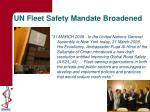 un fleet safety mandate broadened