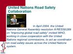united nations road safety collaboration